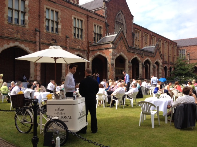 Ice-cream bike at Queens University Belfast wedding